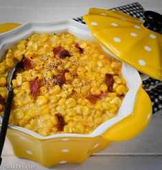 creamed corn with maple bacon-4.jpg by Salad in a Jar, via Flickr