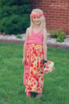 Harlow's infinity Maxi Dress PDF pattern from Create Kids Couture. Great for spring and summer wardrobes ! www.createkidscouture.com/harlows_girls.html