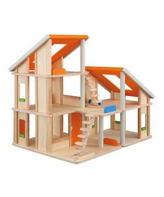 Take a look at this Chalet Dollhouse by PlanToys on #zulily today!