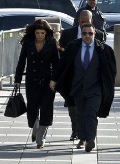 NEWARK, NJ - NOVEMBER 20: Giuseppe 'Joe' Giudice (R) and wife Teresa Giudice arrive to Newark federal court on November 20, 2013 in Newark, New Jersey.