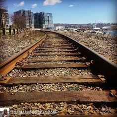 From @seaglassdesigns1968 - The right side of the tracks in Dartmouth #dartmouth #dartmouthwaterfront #dartmouthns #railroad #novascotia…