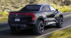 The Tesla pickup will offer seating for six people and a maximum range of up to 500 miles. Custom Trucks, Pickup Trucks, Tesla Pickup, Electric Truck, Future Transportation, Tesla Roadster, Tesla Model X, Street Racing Cars, Muscle Cars
