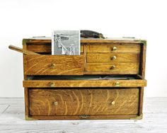 Antique Machinist Tool Chest / Industrial Storage by havenvintage, $195.00