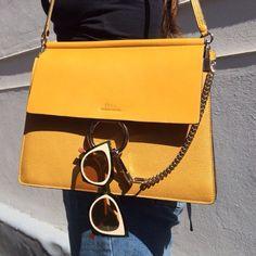 Stunning bag by Chloe via ElleFashionCupboard/Instsgram Sac Chloe Faye, Chloe Bag, Faye Bag, Handbag Accessories, Fashion Accessories, Tech Accessories, Looks Instagram, Satchel, Crossbody Bag
