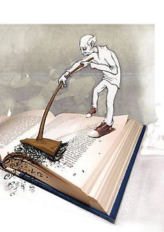illustration de Chase Wills so painful I Love Books, Books To Read, Satirical Illustrations, Art Pictures, Photos, Book Images, Lectures, Book Nooks, Altered Books