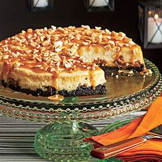 Snickers Cheesecake. Creamy, sweet, and with a crunchy crust, this cheesecake is a dream dessert.