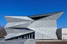 atrium studio turn heat exchanger into culture + sports center - designboom
