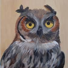 Afbeeldingsresultaat voor uilen schilderen