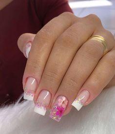 Elegant Nails, Classy Nails, Simple Nails, Stylish Nails, Cute Nails, Cute Acrylic Nail Designs, Best Acrylic Nails, Fabulous Nails, Perfect Nails