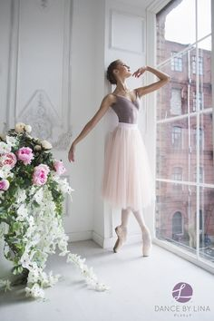 Peach and White Romantic tutu — Dance by Lina Outdoor Ballet Photography, Dance Photography, Ballet Poses, Ballet Dancers, Ballerinas, Long Tutu Skirt, Ballet Clothes, Dance Pictures, Dance Pics