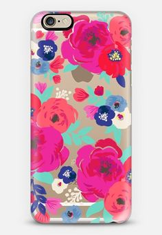 Floral transparent 6s iPhone Case by Crystal Walen @casetify