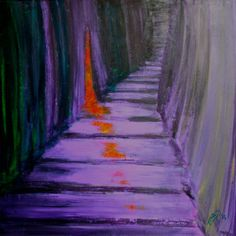 ARTFINDER: Stairs 2 by Elena Renaudière - Stairs - up or down?  A series of paintings about the difficult task of taking a binary decision.  An original abstract acrylic painting on gallery-wrappe...