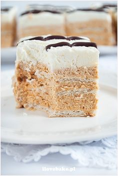 ciasto toffi Toffee, Polish Recipes, Polish Food, Good Food, Yummy Food, Breakfast Menu, Homemade Cakes, Sweet Desserts, Cream Cake