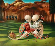 Strawberry Field by Michael Cheval.