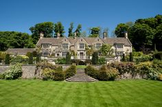 Property Photography - Ed Shepherd Photography - Country House - Beautiful Garden - Garden Steps - Cotswold Stone - The Cotswolds