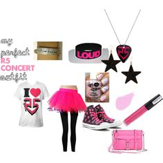 """my perfect R5 concert outfit!!!"" by beccagz on Polyvore--I made this outfit!!! I would totally wear this to a concert!!!"