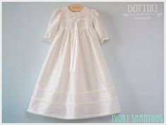 Special listing for Sandra. Includes dress, slip, bonnet, and booties. Baby Girl Christening Outfit, Baby Girl Baptism, Baptism Outfit, Baptism Gown, Christening Gowns, Baby Boy, Baby Girl Dresses, Baby Dress, Girl Outfits