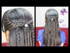 Stacked Fishtail Braid | Hairstyles for school | Easy Hairstyles | Cute Girly Hairstyles - YouTube