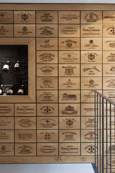 Wine cellar wall of wooden wine boxes decoration chateau v … – Wine World Wine Shop Interior, Interior Design, Retail Interior, Home Wine Cellars, Bar A Vin, Wooden Wine Boxes, Wine Crates, Wine Cellar Design, Wine Display