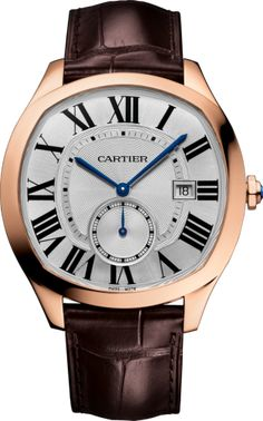 Drive de Cartier watch 18K pink gold, leather