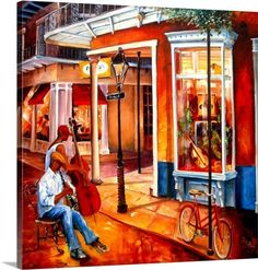 Diane Millsap's brightly-colored paintings capture the life and soul of the city - from the quaint architecture to the street cars, music and food; and most of all, it's people. More at GreatBIGCanvas.com