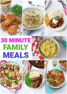 Mid-week meals need to be quick and they need to be easy! All these recipes can be cooked up in less than 30 minutes, allowing you to get a home-cooked dinner on the table even when you're pressed for time! Vegetable Pasta Recipes, Roasted Vegetable Pasta, Easy Meals For Kids, Easy Family Dinners, Chilli Con Carne Recipe, Fussy Eaters, Midweek Meals, Spinach And Feta, Curry Recipes