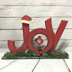 Your place to buy and sell all things handmade Christmas Countdown, Christmas Tree, Christmas Ornaments, Joy Sign, Christmas Decorations, Holiday Decor, Wood Letters, Holiday Lights, Santa Hat