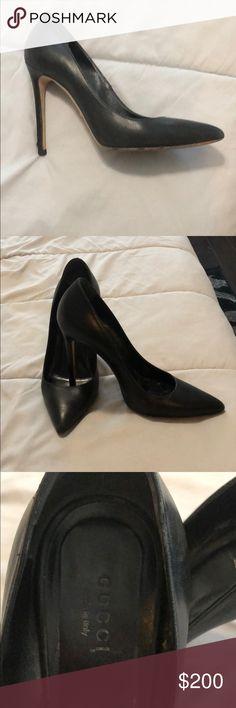 aa0beb9e94cc GUCCI pumps Basic must have black Gucci heels. Basic wear and tear on heels.