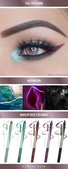 A gorgeous way to wear the Full Spectrum Eye Liner Pencils!