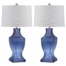 """Bottom 28.5"""" H Table Lamp with Empire Shade (Set of 2)"""