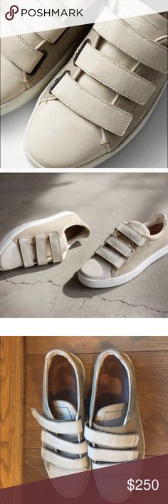 Rag and Bone Kent canvas Velcro sneakers These Kent Rag and Bone sneakers are a really nice off-white leather and grayish canvas. A little dirty on the side, but still pretty good condition. rag & bone Shoes Sneakers