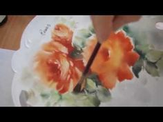 China Painting: Roses - YouTube  I love her style/cw