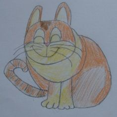 Kids art. Elementary drawing lessons - the drawings of cats - draw animals