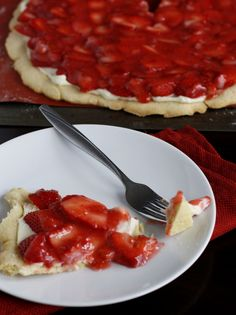 Strawberry Pizza ~ Says: The strawberry glaze on top was a great addition, and the end result was pretty as well as delicious.