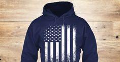 Vintage American Flag, USA 'Merica T-Shirts, Hoodies and Sweatshirts for Women, Men & Kids. #patriotic