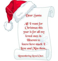 loved ones in Heaven at Christmas