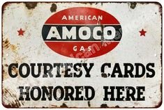 AMOCO American Gas Cards Vintage Look Reproduction Metal Sign 8x12 8123627