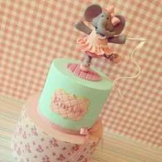 Elephant Ballerina cake - by IcedCreations @ CakesDecor.com - cake decorating website
