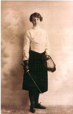 Vintage fencer.