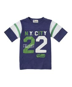 Take a look at this Ink Blue 'N.Y. City' Football Tee - Boys by RUUM on #zulily today!