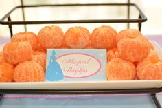 Magical pumpkin cuties at a Cinderella birthday party! See more party ideas at CatchMyParty.com!