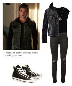 """Theo Reaken - tw / teen wolf"" by shadyannon ❤ liked on Polyvore featuring Isabel Marant, rag & bone, Dsquared2, American Eagle Outfitters and Converse"
