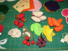 Cloth Fruits/Veggies/Breads for Kitchen Play