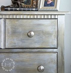 standard nightstand gets glam makeover with metallic paint, painted furniture