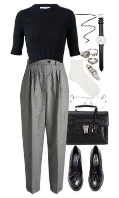 """Untitled #8739"" by nikka-phillips ❤️ liked on Polyvore featuring Mudd, Ray-Ban, Yves Saint Laurent, Carven, NARS Cosmetics, H&M, Topshop, Daniel Wellington and Tiffany & Co."