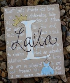 11x14 princess and crown girls hand painted art by staceyfoster, $45.00