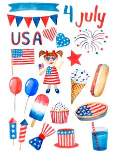 July 4th Holiday, Fourth Of July, Drawing For Kids, Art For Kids, Cat Drawing, Independencia Usa, 4 July Usa, 4th Of July Wallpaper, 4th Of July Clipart