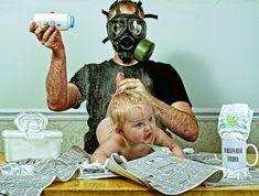 Vader maakt de meest grappige foto's met zijn dochtertje