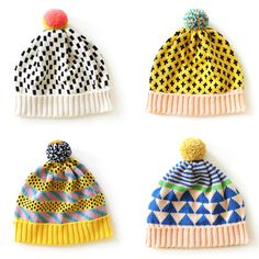 Cool hats from All Knittwear not patterns, purely for inspiration