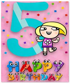 Happy Birthday Wishes for Boy or Girl Birthday Wishes Girl, Nice Birthday Messages, Happy 5th Birthday, Birthday Wishes Quotes, Boy Birthday, Birthday Cards, Baby Birthday Decorations, Birth Month Flowers, Baby Month By Month